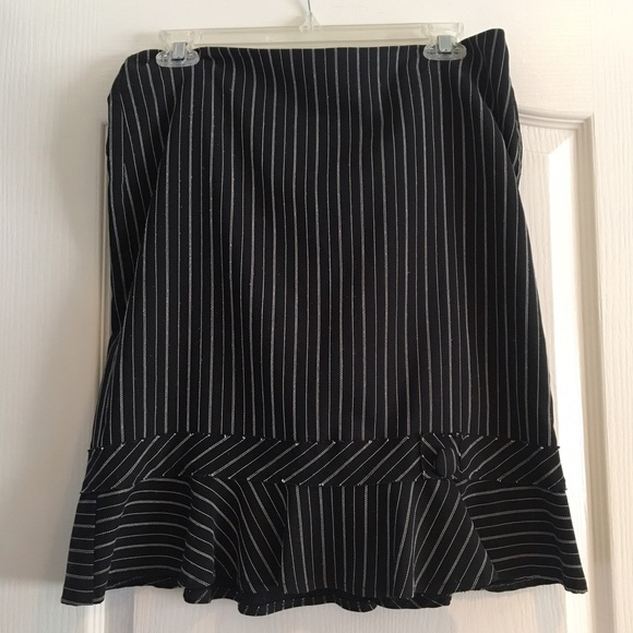 5eef6a9c1aca jcpenney Skirts | Black And White Pinstripe Skirt Size 9 | Poshmark